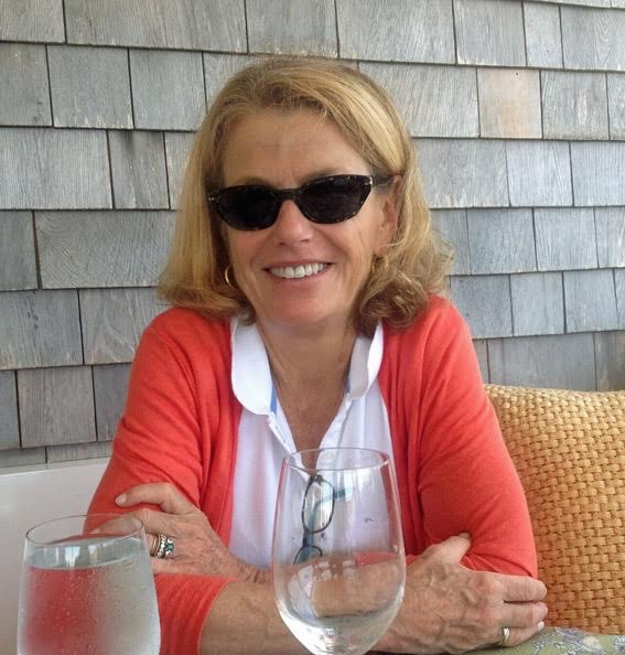Rita – Lunch at Galley Beach Restaurant – Nantucket Cashmere Cardigan by Isle of Skye Cashmere